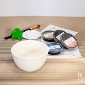 Ceramic painting to go kit bowl
