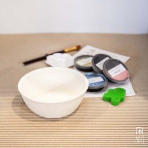 Ceramic painting to go kit bowl