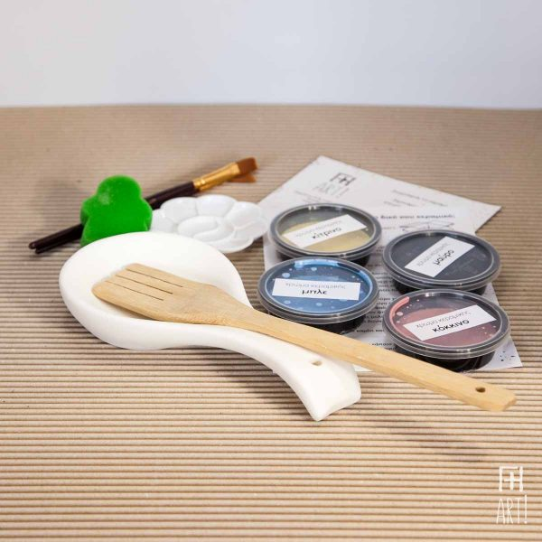 Βάση κουτάλας - Πακέτο ζωγραφικής σε κεραμικό