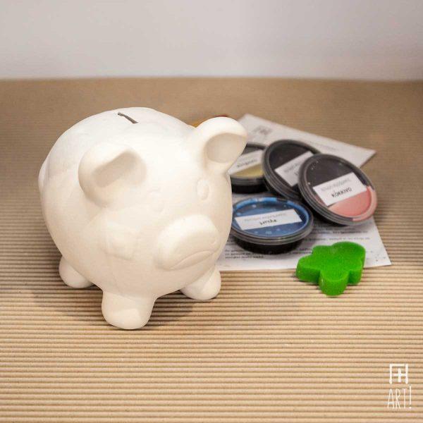 Κουμπαράς γουρούνι - Πακέτο ζωγραφικής σε κεραμικό