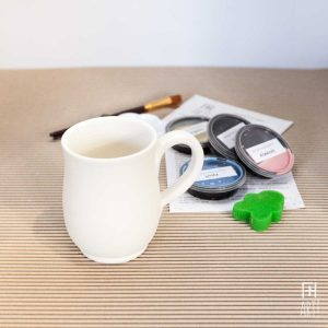 Ceramic painting to go kit cup