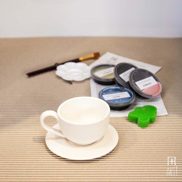 Φλυτζάνι μικρό ίσιο - Πακέτο ζωγραφικής σε κεραμικό