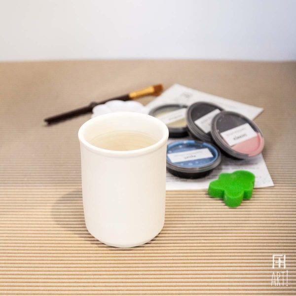 Μολυβοθήκη κύλινδρος - Πακέτο ζωγραφικής σε κεραμικό