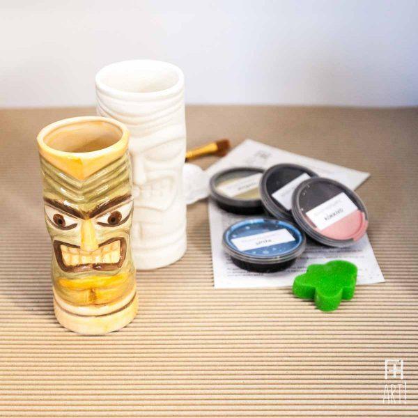 Ποτήρι κοκτέιλ Τίκι - Πακέτο ζωγραφικής σε κεραμικό