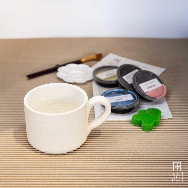 Κούπα μεγάλη κύλινδρος - Πακέτο ζωγραφικής σε κεραμικό