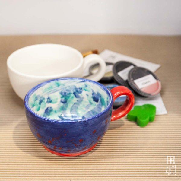 Κούπα μεγάλη δημητριακών - Πακέτο ζωγραφικής σε κεραμικό