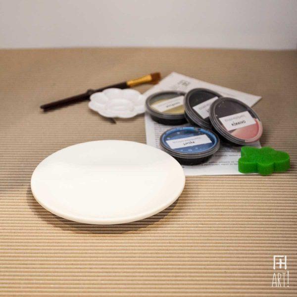 Πιάτο μεσαίο - Πακέτο ζωγραφικής σε κεραμικό
