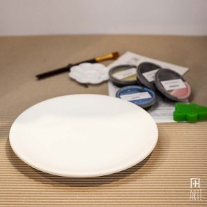 Ceramic painting to go kit plate