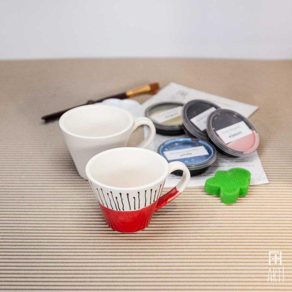 Κούπα τσαγιού ίσια - Πακέτο ζωγραφικής σε κεραμικό
