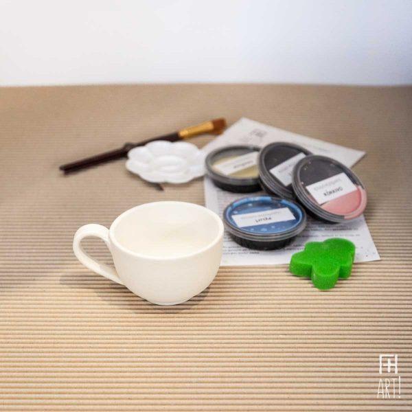 Κούπα τσαγιού - Πακέτο ζωγραφικής σε κεραμικό