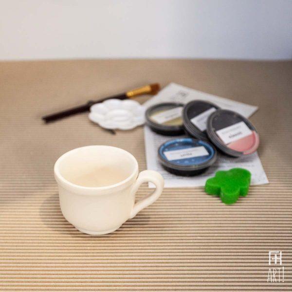Κούπα τσαγιού παραδοσιακή - Πακέτο ζωγραφικής σε κεραμικό