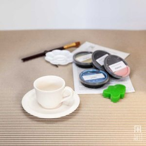 Ceramic painting to go kit small cup