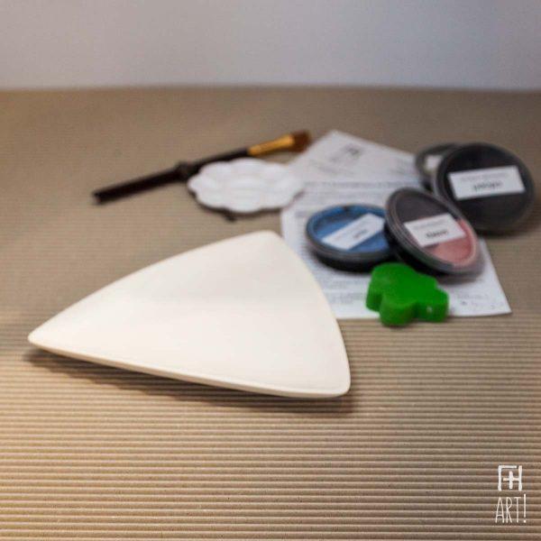 Πιάτο τρίγωνο - Πακέτο ζωγραφικής σε κεραμικό